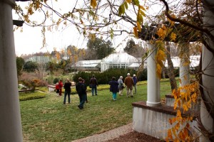Touring through Reynolda's Formal Gardens. Photo by Victoria Bouloubasis.