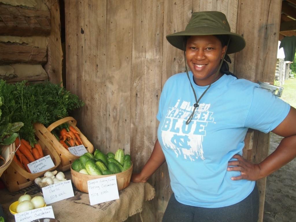 Stephanie and her produce