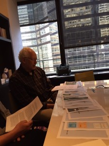 Northeast Farm Access Founder, Bob Bernstein, preparing to present to investors