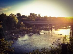 Haw River at Saxapahaw. Photo by Leah Joyner.