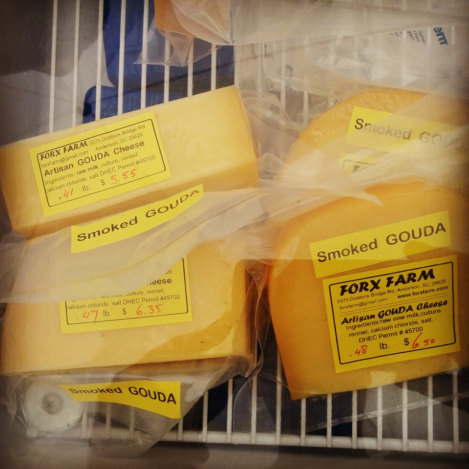 Forx Farm cheese at the Travelers Rest Farmers' Market