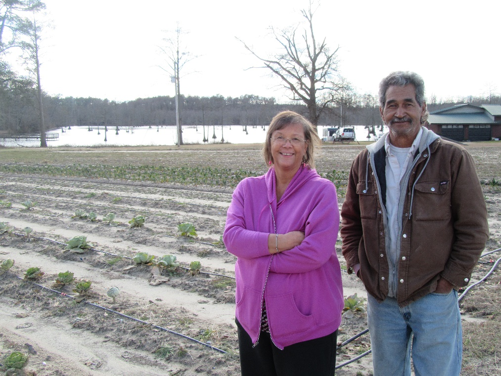 Gwen Locklear at the Hawkeye Indian Cultural Center's Organic Farm Photo submitted by Gwen Locklear