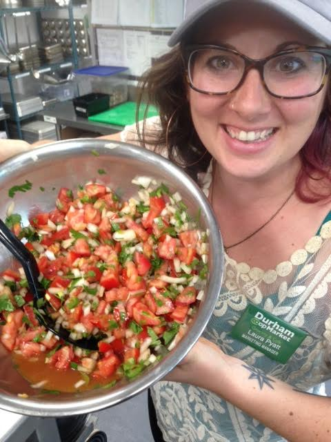 The author with her sensational (and affordable) party salsa