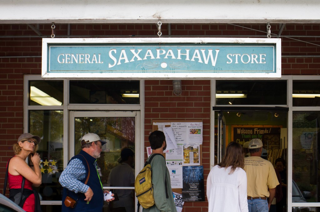 The Saxapahaw General Store is the heart of this charming community