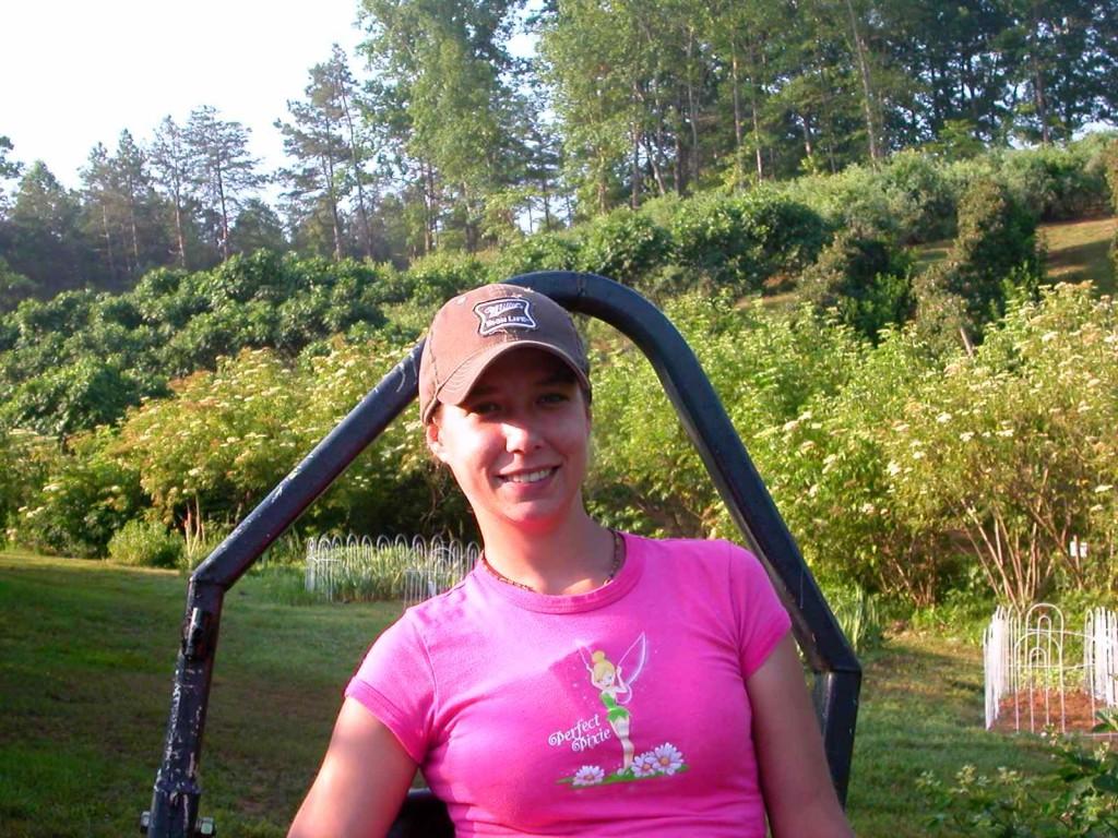 Zoe Miller on the farm