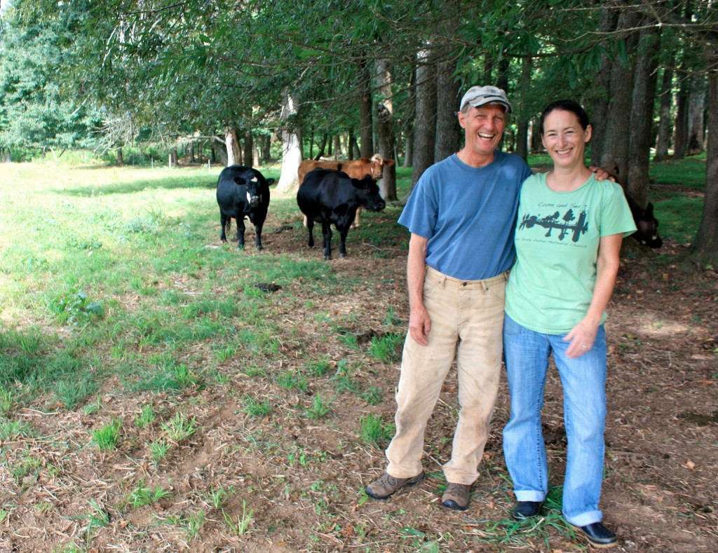 Geoff and Jane Glendhill of Cedar Grove Windy Hill Farm raise beef for Firsthand Foods. Photo from Firsthand Foods' Facebook page.