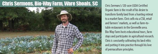 Chris Sherman, CFSA Farmer of the Year 2016