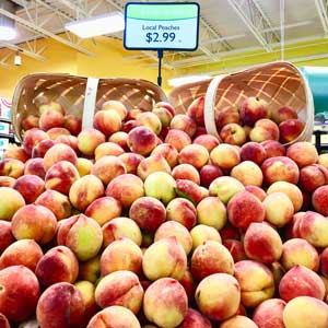 Peaches at the Durham Co-op. Photo by Durham Co-op.