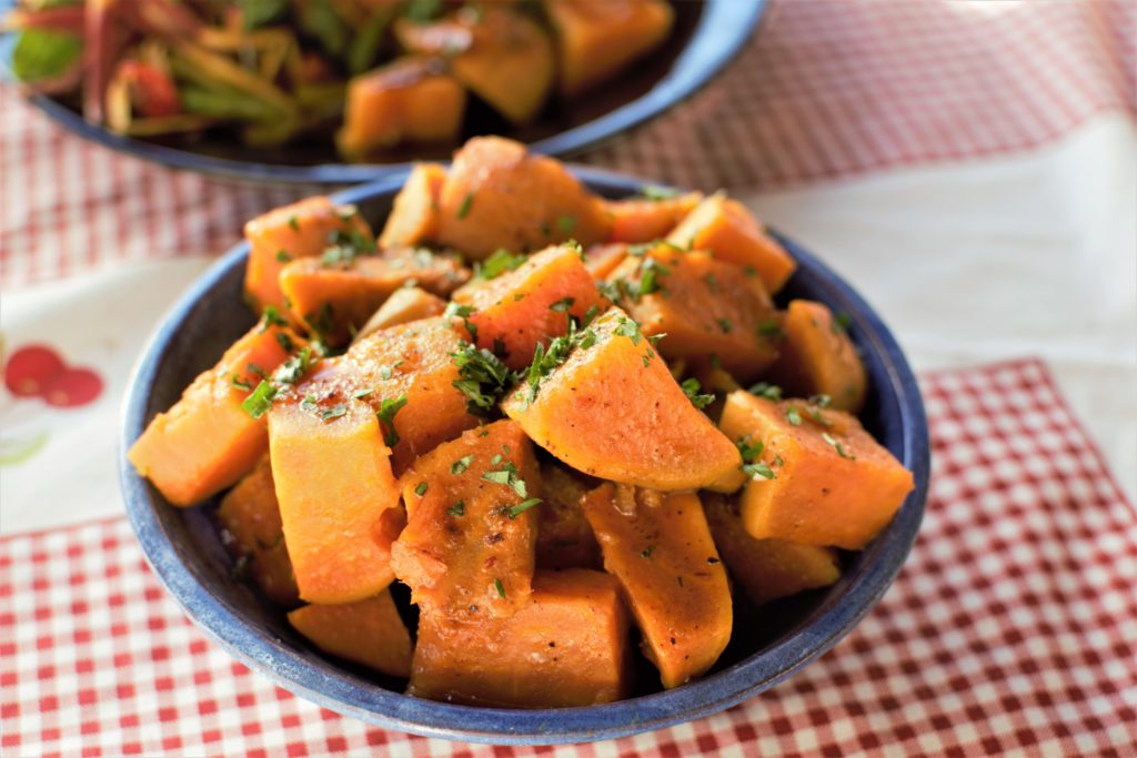 Cathy Cleary's Whiskey Braised Sweet Potatoes