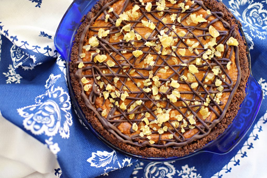 Cathy Cleary's Chocolate-Ginger Sweet Potato Pie, by Katherine Brooks