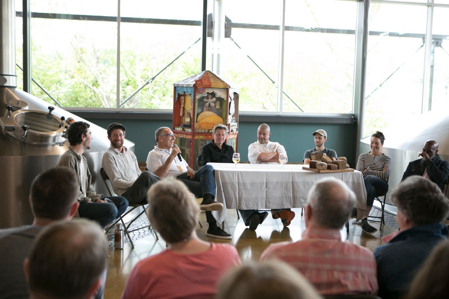 A panel discussion at Asheville Bread Festival
